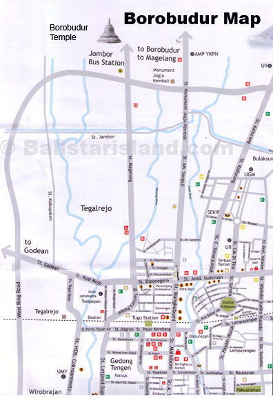 peta ke hotel borobudur jakarta: Departures from jakarta km distance to other city tourist map