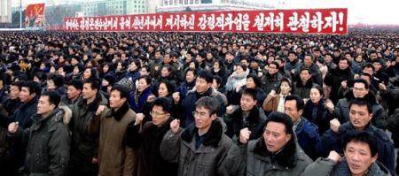 DPRK Crowd in Pynongyang